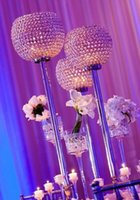 무료 배송 / 10pcs / lots 글로브 크리스탈 웨딩 센터 / 결혼 선물 크리스탈 기둥 / 높이 90cm