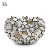 XIYUAN Марка мода Кристалл клатч драгоценный камень высокое качество Леди партия вечерняя сумочка женщины мини-плечо кошельки с цепью