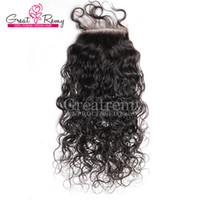 130% barato chaqueta de pelo vírginal indio top de encaje de encaje onda corporal de cordón de cordón de cordón 4x4 nudos blanqueados Cierre delantero del encaje humano