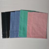Brunitura 11x7cm argento Panno di lucidatura per l'argento d'oro gioielli brillanti Cleaner colori Nero Blu Rosa Verde migliore qualità opp bag