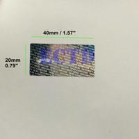 500 adet 40 * 20mm Hologram Güvenlik Mühür Sabotaj Geçirmez Garanti Void Etiket Çıkartmalar