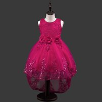 Princess Children Girls Clothes Lace Floral Tutu Dresses Flo...