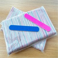 100pcs Double Side 180 220 Nail Art Files Buffer Manicure Pe...