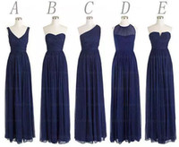 New 5 Styles Custom Made Long Bridesmaid Dresses A Line Back...