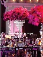 Кристалл поставщика фабрики акриловый (без Белого Пера страуса) для украшения Centerpiece венчания