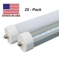 Tubos LED de 8 pies Fixture 6000K FA8 único pin LED T8 45W Tubo de 8 pies de lastre de derivación 8 pies LED tubos fluorescentes de la lámpara del bulbo AC85-265V