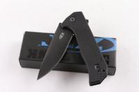 الصفر التسامح ZT0804 الأسود التكتيكي الطي سكين زعنفة g10 مقبض 57hrc التخييم الصيد بقاء سكين جيب فائدة edc التجزئة حزمة