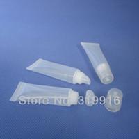 8ML X 200 contenitore di plastica per la pulizia della lucentezza del labbro di colore naturale vuoto, tubo di plastica da 8 g per il trucco, flaconi per la cura della pelle fai-da-te
