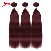Wholesale sleek hair extensions buy cheap sleek hair extensions rebecca 99j malaysia virgin hair straight hair extensions burgundy 2bundles lot human hair weft bundles double weft sleek brand pmusecretfo Gallery