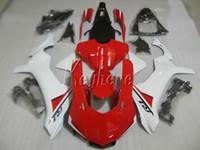 Мотоцикл обтекатели для Yamaha YZF R1 09 10 11 12 13 14 белый красный инъекции плесень обтекатель комплект YZFR1 2009-2014 OR21