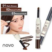 NOVO nuovissimo 3 colori sopracciglio crema mascara gel make up impermeabile sopracciglio gel duraturo trucco pen enhancer con pennello dhl 5068