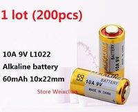 200 قطع 1 وحدة 10a 9 فولت 10A9V 9V10A L1022 البطاريات القلوية الجافة 9 فولت بطاريات استبدال A23L مجانية