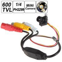 """Olho de peixe Mini Pinhole Câmera 600TVL 5MP 1/4 """"HD Sensor Cone Pinhole CCTV Camera para Home Security Vigilância"""