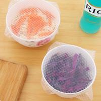 ختم فراغ الغذاء ماجيك التفاف الغذاء متعددة الوظائف الطازجة حفظ البلاستيك التفاف سيليكون شفاف الغذاء قابلة لإعادة الاستخدام الأغطية