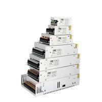 MJJC 12W 24W 60W 100W 120W 150W 200W 360W 400W Växling LED Strömförsörjning 12 Volt 24V DC för 3528 5050 5630 3014 7020 LED-bandljus