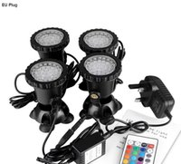 36 LED Fish Tank Swimming Pool Underwater Waterproof IP68 Landscape Lamp RGB AC / DC, con telecomando
