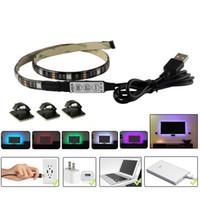 MJJC 5V USB LED bandes étanches 50CM 1M 2M RVB SMD5050 Flexible LED Lights de bande pour la tente de voiture de télévision allumant IP65 extérieur