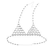 idealway Avrupa El yapımı Gümüş Kaplama Hollow Out Beyaz Gri İnci Bar Vücut Zincir kolye Bikini Takı