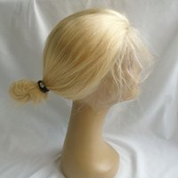 Blonde Lace Front Human Hair Wigs 613 Straight Indian Virgin...