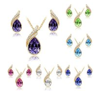New Earrings & Necklace High quality austrian crystal jewelr...