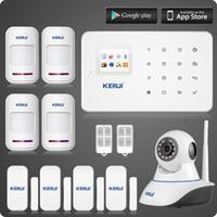 LS111- Caméra IP wifi sans fil + KERUI G18 gsm système d'alarme à la maison + magnétique + détecteur de mouvement antivol sucerity kit d'alarme Garantie de deux ans