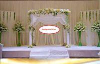 خلفية الساتان الستار ثنى عمود سقف خلفية زواج الديكور الحجاب خلفية انخفاض حفل زفاف المرحلة الاحتفال WT031