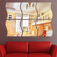 3pcs / set Decorazione tridimensionale a specchio come decorazione acrilica a specchio Decorazione della stanza dell'autoadesivo DIY Home Decor