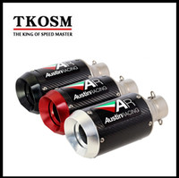 TKOSM Carbon Fiber Motorcycle Exhaust Muffler Modified Exhau...