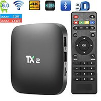 TX2 R2 Android 6.0 intelligenter IPTV Fernsehkasten Bluetooth RK3229 WiFi 4K Media Player 2GB / 16GB