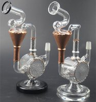 Newest Glass Bongs Two Function Dab Rigs Glass Water Pipes S...