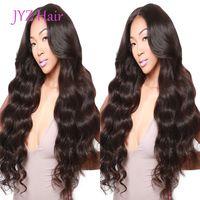 Парик фронта шнурка Естественного цвета Свободной волна бразильского малазийский Virgin человеческих волосы полного парик шнурок необработанная дешевая цена для продажи