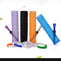Silicone Water Pipes Dry Herb Water bongs silicone Bong Smok...