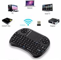 I8 2.4GHz 무선 마우스 게이밍 키보드 S905X S912 TV 안드로이드 박스 T95 X96 용 터치 패드 및 에어 마우스 백라이트 원격 제어