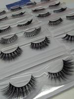 Süper DOĞAL Çıplak Makyaj 10 Çift / paket 3D Sahte Kirpikler Günlük Göz Makyaj Aracı Yanlış Göz Lashes 3D Şerit Kirpik Uzatma Ipek saç kirpik