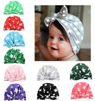 INS Baby Bow Hat Bunny Ear Caps Europe Style Turban Knot Hea...