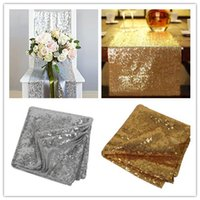 1pcs 30cm*275cm Silver Gold Color Sequin Fabric Table Runner...