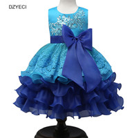 Bridesmaid Wedding Dress For Baby Girl Lace TUTU Party Dress...
