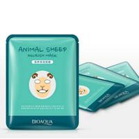 Vente au détail 5 pcs BIOAQUA Visage souple Masques Animal Visage Masque Tigre Panda Mouton Chien Forme Hydratant Contrôle De L'huile Hydratant Nourrissant