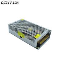 Interruttore universale 24V 10A 240W alluminio elettrica principale driver del trasformatore di commutazione per il display luce di striscia LED 110V 220V
