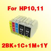 5x cartouches d'encre compatibles pour HP10 HP11 pour hp 10 11 Business Inkjet 1000 1100D / dtn 1200 / D