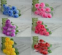 100pcs Roses Artificielles 7 couleurs Soie Fleur De Mariage De Mariée Bouquet De Décoration À La Maison 2.3