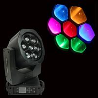 저렴한 2xlot DJ 장비 B-EYE 미니 LED 이동 헤드 빔 헤드 라이트 7x15W 줌 RGBW 4in1 높은 전력 퀵쇼드 LED 스튜디오 무대 세척 조명