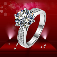 Custom ForeverBeauty 3CT Round Cut Design Luxury Star Style Synthetic Diamond Rings Para el anillo de compromiso
