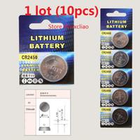 10pcs 1 개 CR2450 3V 리튬 이온 버튼 셀 배터리 CR 2450 리튬 이온 배터리 3 개 리튬 이온 배터리 무료 배송