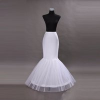 trasporto veloce Vendita calda Mermaid Petticoat / slip 1 Hoop Bone elastico abito da sposa Crinoline Jupon Mariage