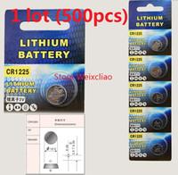 500pcs 1 lotto CR1225 3V batteria a bottone agli ioni di litio CR 1225 3 volt batterie agli ioni di litio Spedizione gratuita