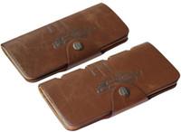 Portafogli da uomo in stile lungo Casual Casual Brevetto Hunter Hunter Pattern Brown 3 Piegabile Hollow Cowboy Retro Carta Portafoglio Portafoglio AK125
