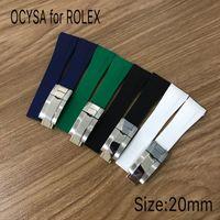 Coysa Brand Резиновый ремешок для Rolex Sub 20mm мягкие прочные водонепроницаемые ремешки для часов Часы Bands Band Accessorent с оригинальной стальной пряжкой