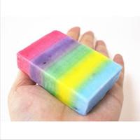 New Skin Olio-controllo Handmade pura Hydrating Body Soap bellezza di alleggerimento arcobaleno di pulizia Sapone Anti Macchia Scura