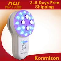 휴대용 가정용 BIO RF 기계 갈바니 바디 쉐이핑 LED 포토 온 피부 절개 장비 DHL 무료 배송